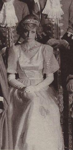 November 4, 1982: Princess Diana at the State Opening of Parliament.