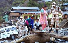 Indian army rescue operations during the Uttarakhand floods, June 2013