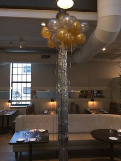"""cluster of 11"""" balloons with mylar ribbon"""