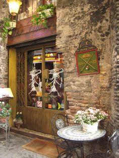 bookshop in old roman town