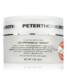 When I worked at Sephora, I had a 60-year-old coworker whose skin looked so unbelievably good that I made her show me her driver's license. I would have thought she was at least 10 years younger. Well, she shared her secret, and it is PTR Unwrinkle Night Cream. Her gorgeous skin was all the proof I needed, but it helps that it's positively jam-packed with anti-aging goodness. Peptides, neuropeptides, my main squeeze retinol and glycolic acid. If you want anti-aging, this pretty much as it…