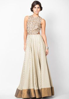 Payal Singhal - Multi Geometric Flared Gown