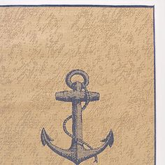 4.9' x 6.9' Blue and Natural Anchor Indoor-Outdoor Rug | World Market