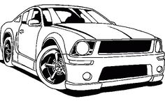 Mustang Racing Coloring Page - Mustang car coloring pages