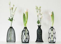 Vases 3D transforment les bouteilles en plastique en objet design