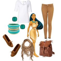 Real world outfits inspired by Disney princesses. Such a fun idea!