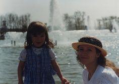 Liza and Dasha at VDNKh 1995