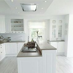 Chic.  White. Real wood work top