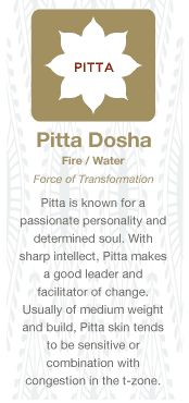 Ayurveda Pitta - Fire/Water - Learn more about Pitta: http://www.foodpyramid.com/ayurveda/pitta-dosha/ #pitta #dosha #ayurveda