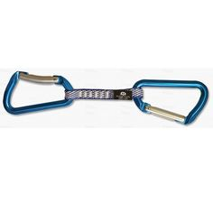 Omega Pacific Classic Keylock Quickdraw   With the Keylock Classic and straight carabiners facing in opposite directions.   at www.weighmyrack.com/ #rock #climbing #gear