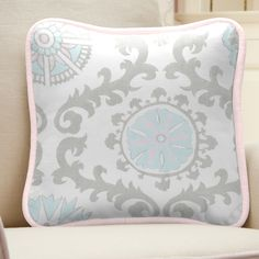 Pink and Gray Rosa Nursery Decor by Carousel Designs.
