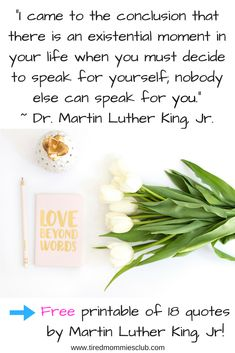 Inspirational and empowering quote from Martin Luther King, Jr. Development Quotes, Self Development, Tired Mom Quotes, Flower Poem, Motivational Quotes, Inspirational Quotes, Word Free, Law Of Attraction Quotes, Beyond Words