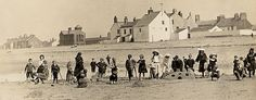 """"""" A Day Off From School """" … Edwardian era students on a day trip to the beach at Allonby, Cumbria, England along the Solway coast."""