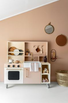 Ikea Kids Kitchen, Diy Play Kitchen, Kitchen Wood, Kids Workbench, Kids Furniture, Girl Room, Kids Bedroom, Room Inspiration, Decoration