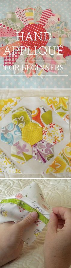 Sewing For Beginners Free Tutorial: Hand Applique For Beginners - Not only is hand appliqué for quilting Hand Quilting Patterns, Patchwork Quilting, Applique Patterns, Free Motion Quilting, Quilting Tutorials, Applique Quilts, Quilting Projects, Quilting Designs, Sewing Tutorials