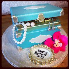 Turquoise jewelry box Birthday cake by CakeStarca CakeStar