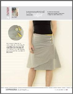 Asymmetrical Folds Skirt - Free pattern download-  I've made this!  Ages ago, it's cute!  Now I want another!