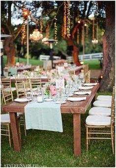 mantel para una boda en verde menta