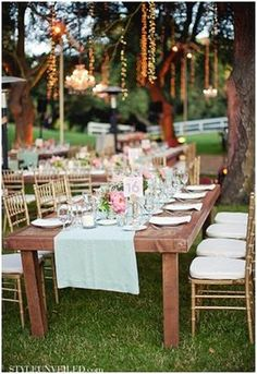 Mint wedding reception table decor     #Mint/ pastel green Wedding Reception ... Wedding ideas for brides, grooms, parents & planners ... https://itunes.apple.com/us/app/the-gold-wedding-planner/id498112599?ls=1=8 … plus how to organise an entire wedding ♥ The Gold Wedding Planner iPhone App ♥