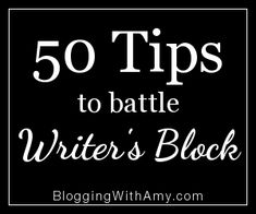 Some good tips on how to battle writer's block! Step away from the computer.  Write at your peak times. Write when you're tired. Pretend you're talking to a specific friend. Turn off and log out of everything but your text editor. Forget all the fancy gadgets and go old school. etc