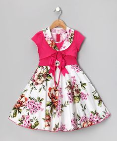 Look at this #zulilyfind! Pink Floral Dress & Shrug - Toddler & Girls #zulilyfinds