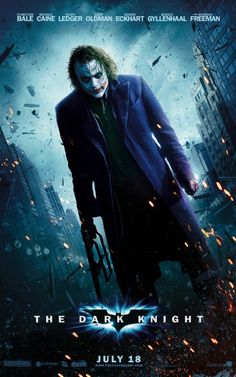 This film may be about Batman but Joker stole this show from the get go... Heath Ledger portrayed the Batman's nemesis with such conviction... The sinister voice of Mark Hamill was the only thing that would make this Joker the perfect one... This is the best film of the Dark Knight Trilogy...