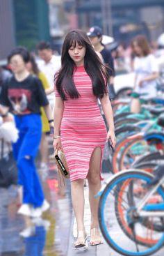 微博 Asian Woman, Asian Girl, Cyberpunk Girl, Asian Beauty, Bodycon Dress, Dresses, Women, Girls, Fashion