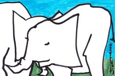Ella2Phant  original drawing by doodleslice on Etsy, $50.00