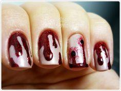 Vampire Bite Nail Art
