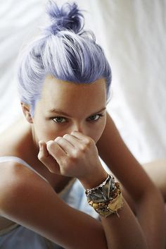 Periwinkle hair (via @beautybets) // #hair