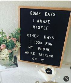 Totally in love with letter boards from The Letter Tribe. Most versatile home decor- letter board for inspirational quotes and motivational messages. Great Quotes, Quotes To Live By, Me Quotes, Inspirational Quotes, Humour Quotes, Motivational Messages, Felt Letter Board, Felt Letters, Felt Boards