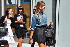 what do you wear with a leather skirt | Lateybirdy: Please do wear that Leather Pleated or Circle Skirt