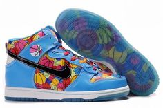 new styles 8a8a1 bbfd2 Nike Dunk SB Mid Blå Gul Rød Herre High Shoes, Top Shoes, Blue Shoes