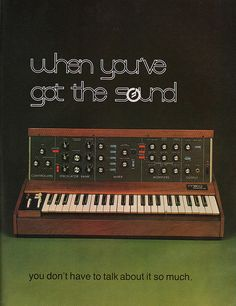 """Moog Music """"Happy Birthday Bob Moog (May ad/message, Contemporary Keyboard 1979 Vintage Synth, Vintage Ads, Vintage Advertisements, Vintage Posters, Electronic Music Instruments, Musical Instruments, Moog Synthesizer, Analog Synth, Music Happy"""