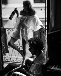 Fine black and white couple photography