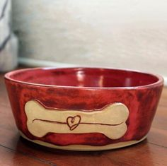 The Carolina Ceramic Pet Bowl Our custom, high quality ceramic pet bowls are handmade right here in the USA. Each is individually crafted and personalized for your favorite furry family member and wil