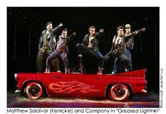 Grease (Grease Lightning): red, white, black