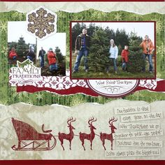 scrapbooking ideas | ... Scrapbook Project Ideas: Family Traditions Noel Scrapbook Layout Idea
