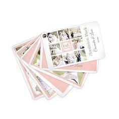Kartenfächer mit vielen Fotos der Hochzeitsserie \\\