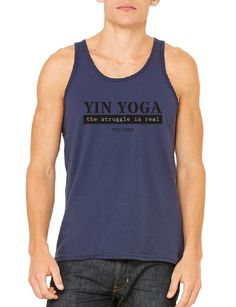 YIN The Struggle Is Real - Unisex Tank Top Relaxed