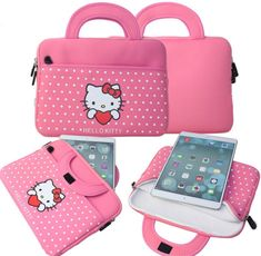 """Cover For Tablet 10"""" Hello Cute, Hello Kitty Rooms, Hello Kitty Purse, Cute Wallpapers For Ipad, Ipad Bag, Hello Kitty Collection, Insulated Lunch Bags, Types Of Bag, Samsung"""