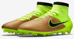 The new Canvas / Volt Nike Magista Obra Kangaroo Leather Soccer Cleats introduce a striking design for the revolutionary Nike Magista Tech Craft Pack Boots.