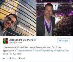 Alessandro Del Piero, Jay-Z, Kanye West e Jack Nicholson tra le star presenti al match di addio di Kobe Bryant