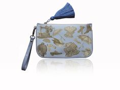 FASHION BLUE Clutches, Canvas, Prints, Leather, Blue, Fashion, Tela, Moda, Fashion Styles