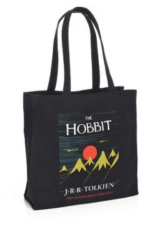 "The Hobbit 75th Anniversary Black Canvas Tote (14""x14""x5"")"
