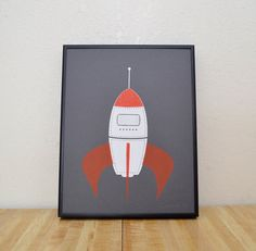 Rocket by emveeprints on Etsy