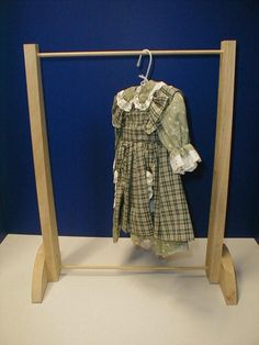 make garmet rack TLC Doll Accessories for 18 Dolls,denver,edgewater,colorado Doll Clothes Hangers, Diy Clothes Rack, Girl Doll Clothes, Ag Dolls, Girl Dolls, Diy Doll Closet, Little Cotton Rabbits, American Doll Clothes, Waldorf Dolls
