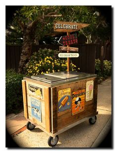 Have a vintage ice cream cart serve ice cream bars as a mid-party snack during your reception!