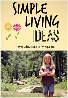 Some ideas of what simple living looks like.  Great place to start reading about simple living!