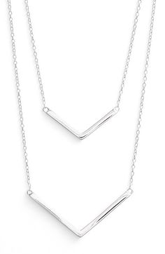 Argento Vivo Double Pendant Necklace available at #Nordstrom